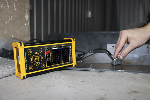 Ultrasonic flaw detector UD 2303 inspection weld joint